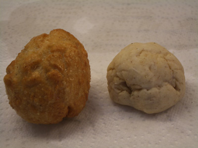 Fried and raw size comparisons