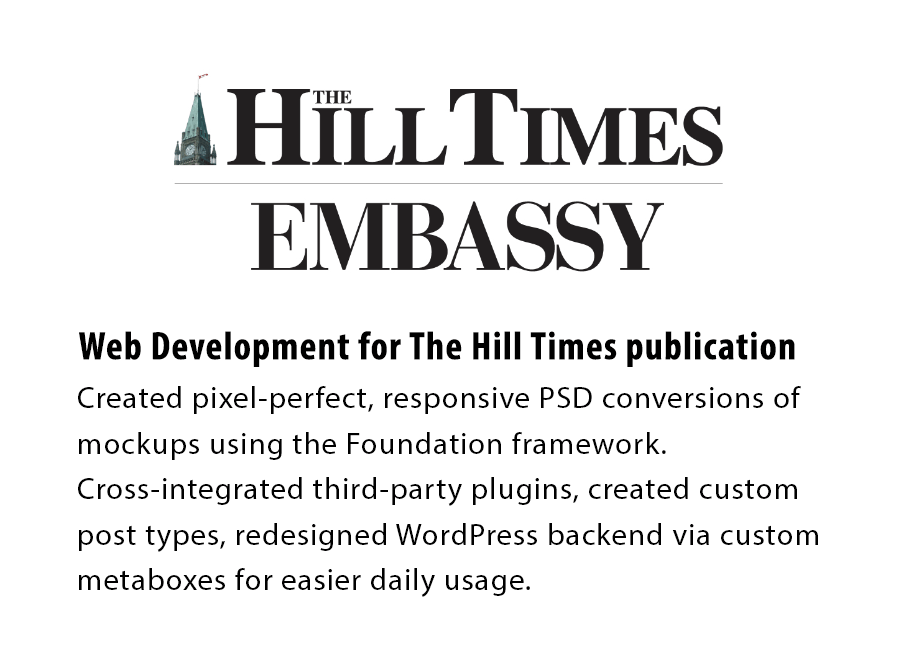Hill Times Website Development